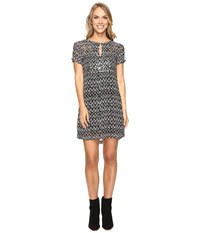 Lucky Brand Embellished Shift Dress Black Multi Women's Dress