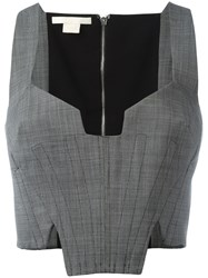 Antonio Berardi Cropped Corset Top Grey
