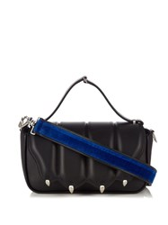 Marco De Vincenzo Paw Effect Medium Leather Shoulder Bag Black Blue