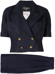 Chanel Pre Owned Setup Two Piece Suit Blue
