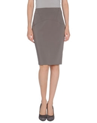 Lupattelli Knee Length Skirts Grey