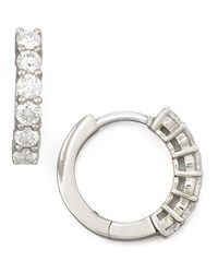 13Mm White Gold Diamond Hoop Earrings 0.7Ct Roberto Coin Red