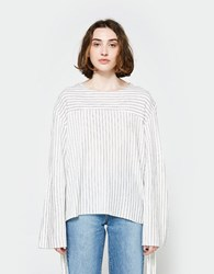 House Of Sunny Stripe Volume Top