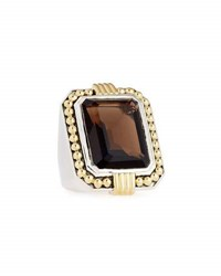 Lagos Emerald Cut Smoky Quartz Statement Ring Brown