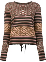 Rachel Zoe 'Ryan' Knit Blouse Brown