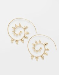 Asos Tribal Through Earrings Gold