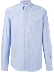 Aspesi Button Down Collar Shirt Blue