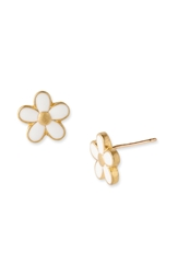 Marc By Marc Jacobs 'Daisy Chain' Small Stud Earrings Cream Gold