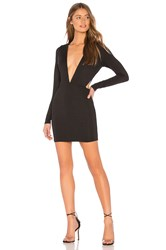 By The Way Rhonda Deep V Mini Dress Black