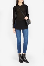 Proenza Schouler Women S Long Mesh Knit Top Boutique1 Black