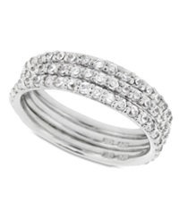 B. Brilliant Sterling Silver Ring Set Cubic Zirconia Stackable Ring Set 2 1 5 Ct. T.W.