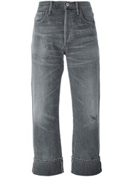 Citizens Of Humanity Cropped Boyfriend Jeans Grey