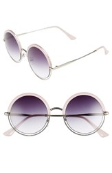 A. J. Morgan Women's A.J. Pancakes 52Mm Gradient Lens Round Sunglasses Pink