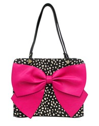 Betsey Johnson Bow Regard Satchel Fuschia