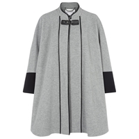 Windsmoor Contrast Cape Silver Grey