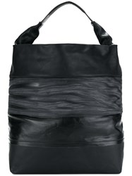 Rick Owens Creased Effect Tote Leather Black