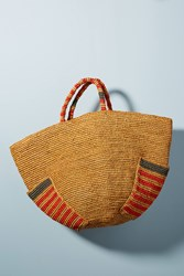 Anthropologie Anuanua Woven Tote Bag Orange
