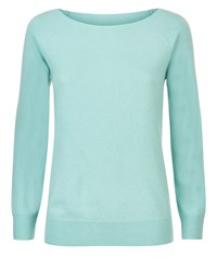 Jaeger Cashmere Sweater Blue