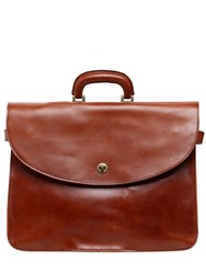Officine Creative Brushed Leather Briefcase