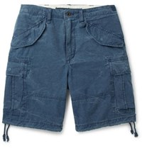 Polo Ralph Lauren Washed Cotton Ripstop Cargo Shorts Blue
