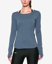 Under Armour Fly By Long Sleeve Training Top Aurora Purple
