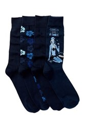 Tommy Bahama Hibiscus Camo Socks Pack Of 4 Multi