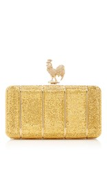 Judith Leiber Couture Rooster Ridged Clutch Gold