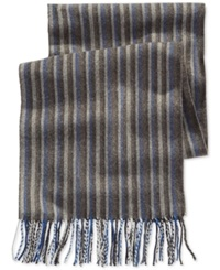 Alfani Red Striped Scarf Only At Macy's Grey Blue