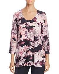 Nally And Millie Abstract Floral Print Tunic Pink