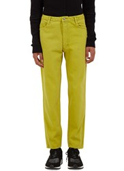 Eckhaus Latta Slim Leg Cropped Jeans Yellow