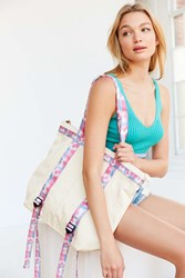 Urban Outfitters Mimi Convertible Tote Backpack White