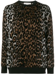 Stella Mccartney Cheetah Jacquard Jumper Brown