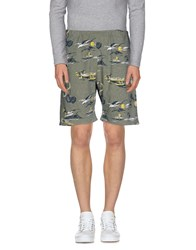 Madson Discount Trousers Bermuda Shorts Men Military Green