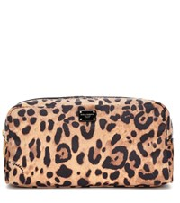 Dolce And Gabbana Leopard Print Cosmetics Case Brown