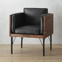 Cb2 Bower Leather Chair