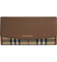 Burberry Porter Horseferry Check Leather Wallet Tan