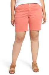 Sejour Plus Size Women's Bermuda Shorts Coral Rose