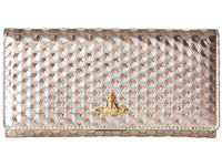 Vivienne Westwood Braccialini Honey Comb Long Wallet With Chain Azzurro
