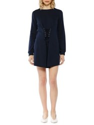 Walter Baker Anne Long Sleeve Mini Dress Dark Navy
