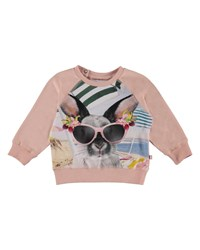 Molo Elsa Bunny In Sunglasses Graphic Top Size 3 24 Months Pink