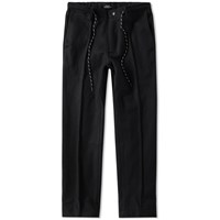 Olaf Hussein Wool Trouser Black