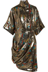 J.W.Anderson Printed Silk And Lurex Blend Lame Dress
