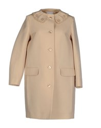 Moschino Cheap And Chic Moschino Cheapandchic Coats And Jackets Full Length Jackets Women Beige