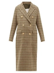 Giuliva Heritage Collection The Cindy Gunclub Check Wool Overcoat Beige Multi