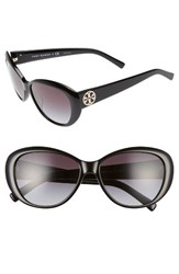 Tory Burch Women's 56Mm Cat Eye Sunglasses Black