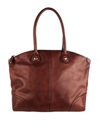 Cole Haan Delphine Leather Tote Chestnut