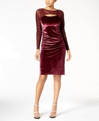 Inc International Concepts Velvet Cutout Illusion Dress Created For Macy's Port