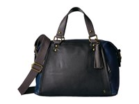 Elliott Lucca Corina Satchel Indigo Block Satchel Handbags Black