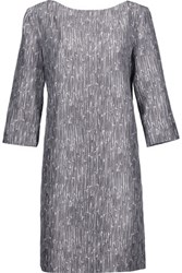 Marni Printed Cotton And Silk Blend Dress Dark Gray
