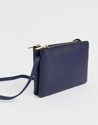 Estella Bartlett Double Cross Body Bag In Navy